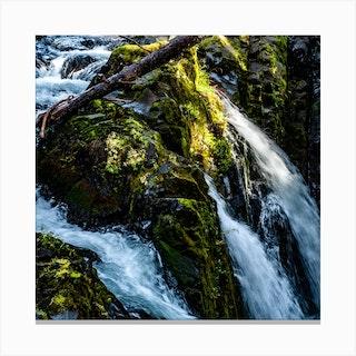 Sol Duc Falls Squarw Canvas Print