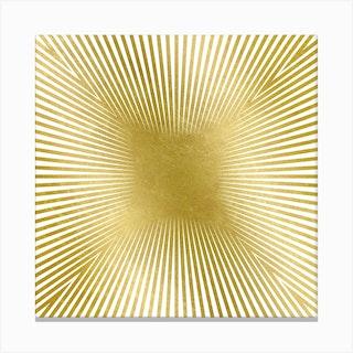 Converge Heavy Gold Square Canvas Print