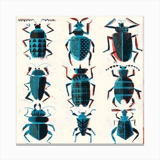 Bugs Square Canvas Print