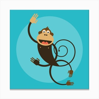 Kids Room Monkey Canvas Print