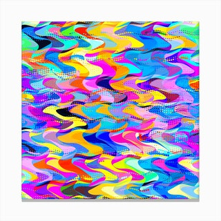 Abstract Busy Waves Canvas Print