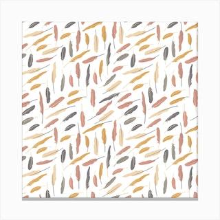Feathers (Pollen)Square Canvas Print