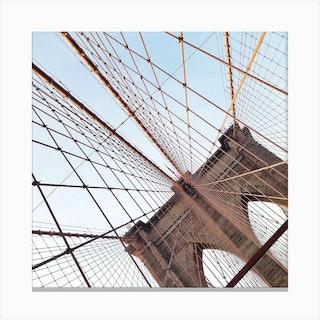 Brooklyn Bridge Square Canvas Print