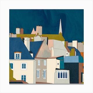 Saint Malo Square Canvas Print