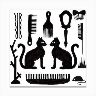 Cat Parlour Canvas Print