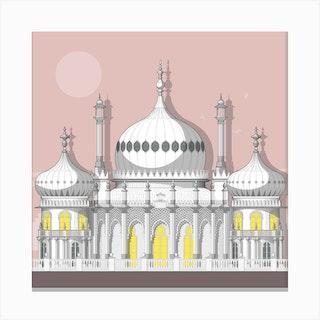 Royal Pavilion Pink Canvas Print