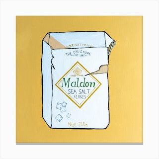 Maldon Sea Salt Square Canvas Print