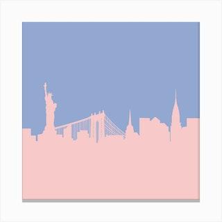 New York Rose Quartz Canvas Print