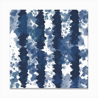 Tie Dye Stripes 2 Square Canvas Print