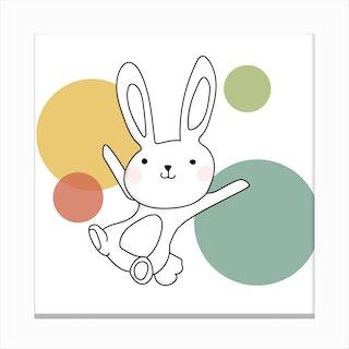 Space Rabbits Vega Canvas Print