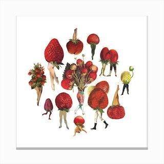 Strawberry Patch Canvas Print