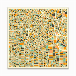 Los Angeles Map Canvas Print
