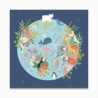 Our Planet Square Canvas Print