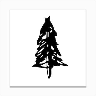 Pine Tree Square Canvas Print