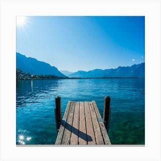 Lake Geneva Square Canvas Print