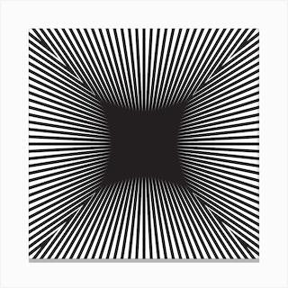 Converge Heavy Black Square Canvas Print