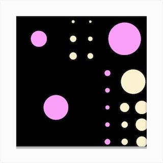 Yayay Dots Baby Pink Square Canvas Print
