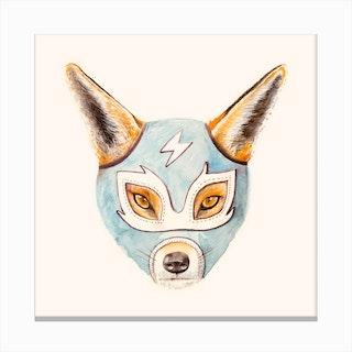 Andrew the Fox Wrestler Canvas Print