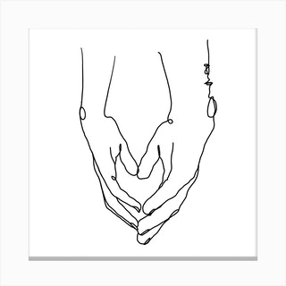 Heart In Your Hands Square Canvas Print
