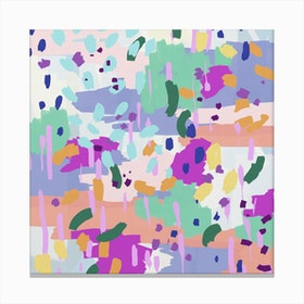 Oil Abstract I Square Canvas Print