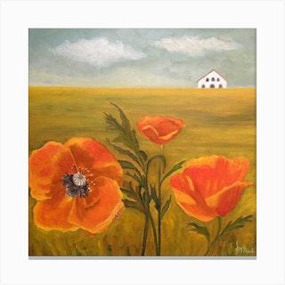 Springtime Storm Square Canvas Print