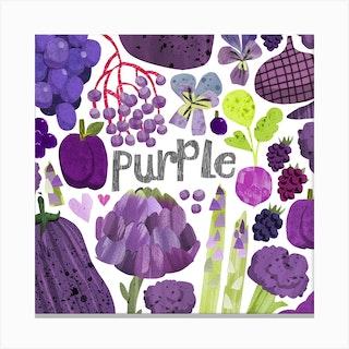 Rainbow Purple Square Canvas Print