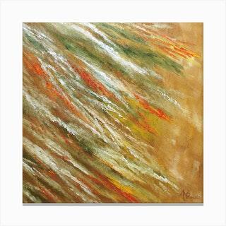 Stampede Square Canvas Print