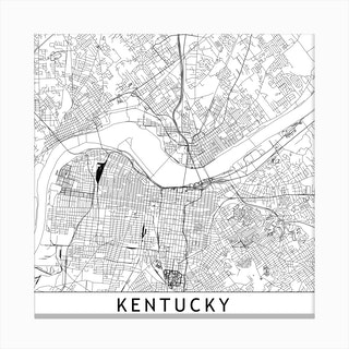 Louisville Map Canvas Print