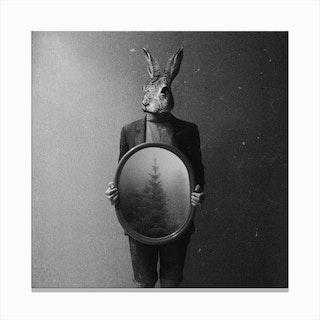 Animals in My Room (Rabbit) Canvas Print