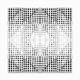 Gods Eye Block Print In Black And White Canvas Print
