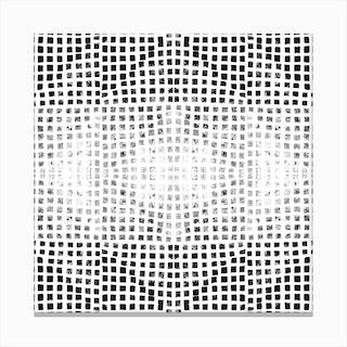 Gods Eye Block Print In Black And White Canvas Print