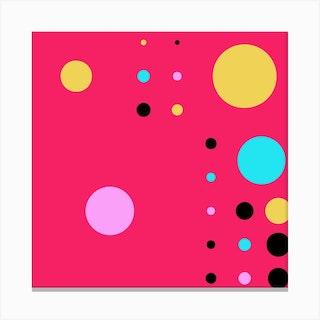 Yayay Dots Party Square Canvas Print