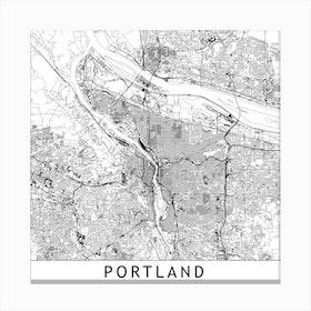 Portland Map Canvas Print