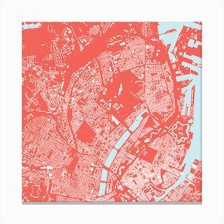Copenhagen in Pink Canvas Print
