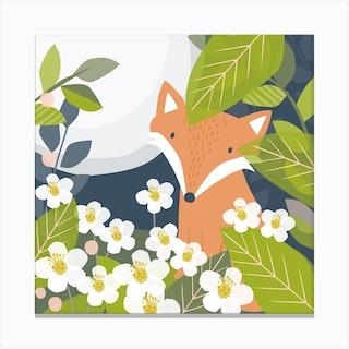 Fox Den Canvas Print