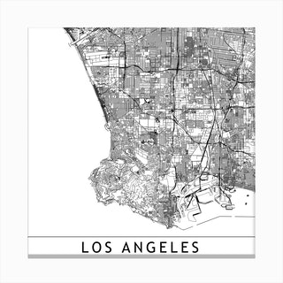 Los Angeles Map  I Canvas Print