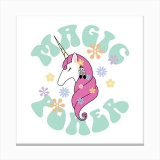 Hippie Unicorn Canvas Print