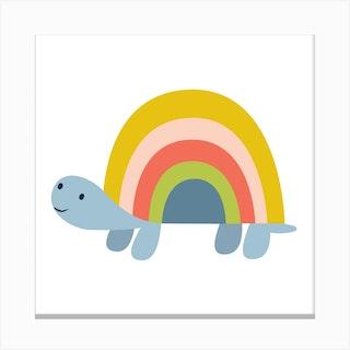 Rainbow Tortoise Canvas Print