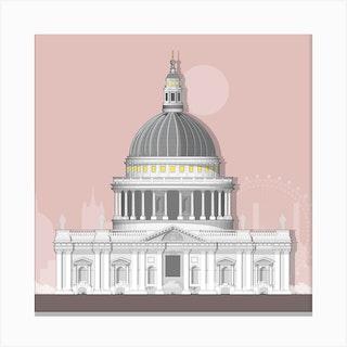 St Paul Pink Canvas Print