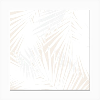 Nude Palms Square Canvas Print