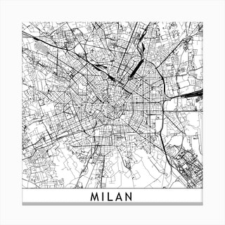Milan Map  I Canvas Print