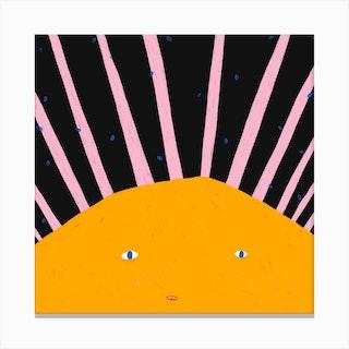 Summer Sun Square Canvas Print