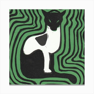 Cat On A Mat 1 Canvas Print