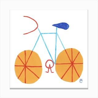 Bike 1 Square Canvas Print