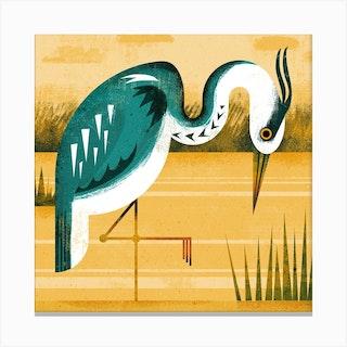 Heron Square Canvas Print