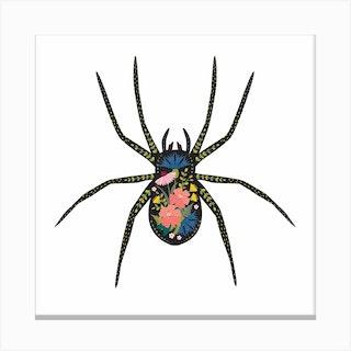Floral Spider Canvas Print