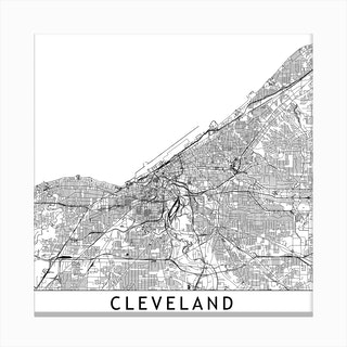 Cleveland Map Canvas Print