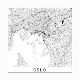 Oslo Map Canvas Print
