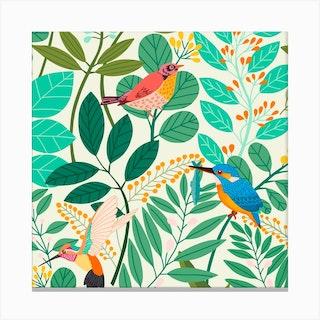Bird Paradise Canvas Print