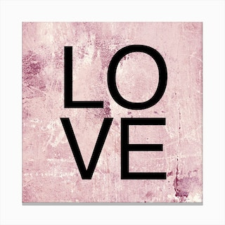 I Love You Square Canvas Print